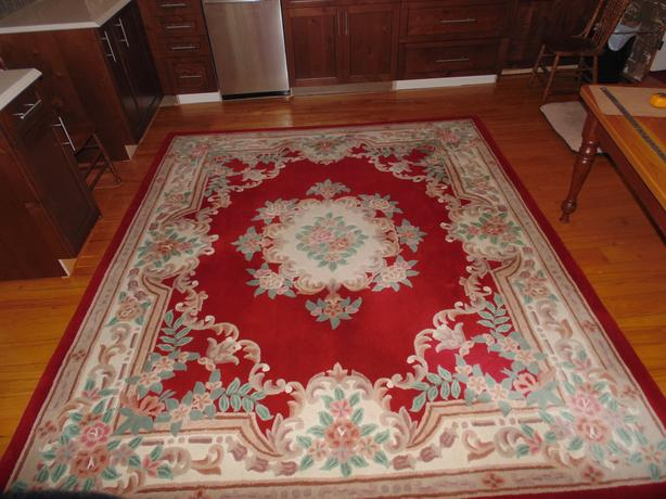 Deep Wool Carpet with Floral Designs
