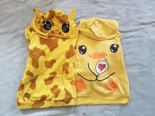cute yellow hoddies