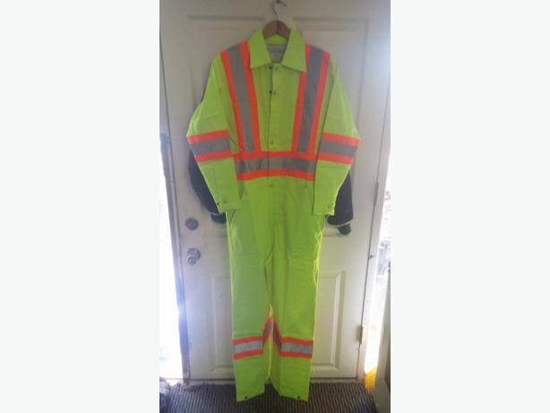 brand new  pairs of reflective coveralls