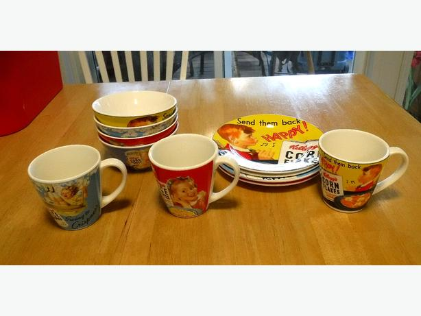 Reproduction Vintage Kellogg's Dishes