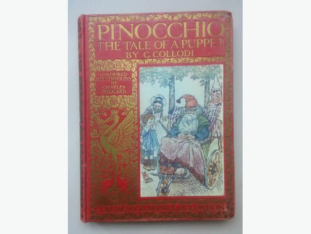 a rare 1926 Pinocchio First edition, 4th printing,  by C. Collodi