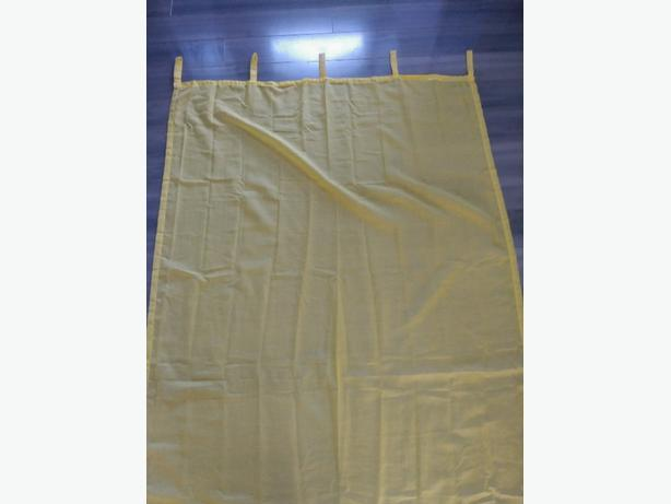 Set of 4 Bright Yellow Curtains