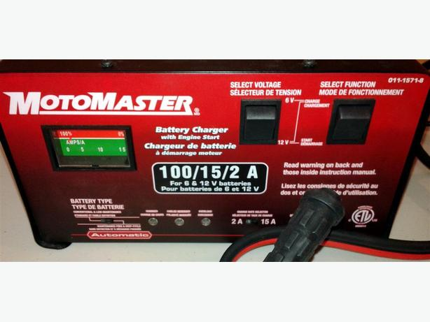 15 2a automatic amp manual battery charger w 100a engine start rh usedottawa com motomaster 12/2a automatic battery charger with 75a engine start manual motomaster 12/2a automatic battery charger manual