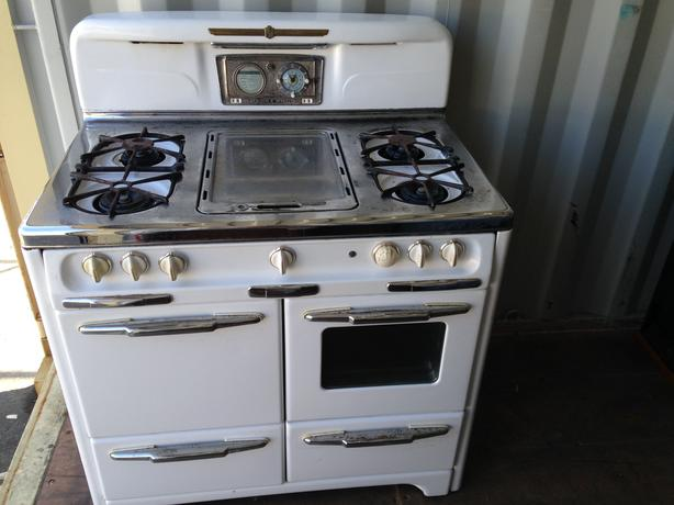 "WEDGEWOOD 1951 CLASSIC  40"" GAS KITCHEN STOVE RANGE DELUXE WORKING"