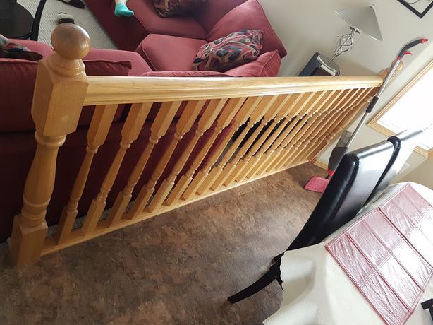oak hand rails