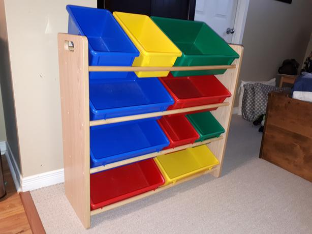 Imaginarium Storage Bin Rack with 10 Bins