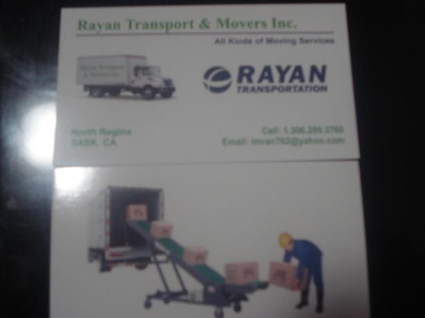 RAYAN'S TRANSPORT/MOVERS INC.