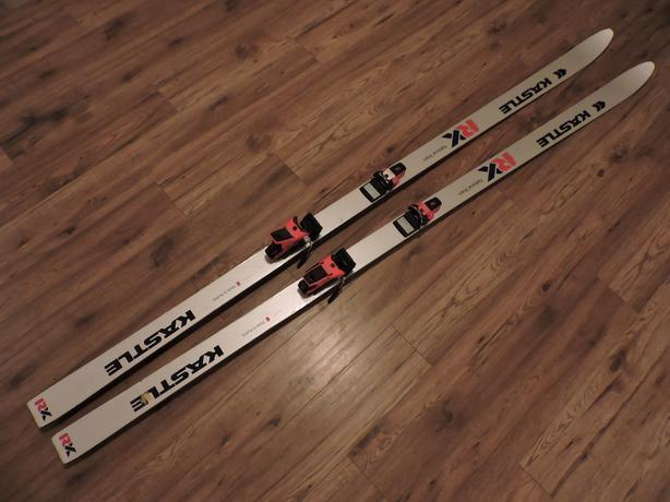 Leonhard Stock's downhill skis from the 1984 Alpine Skiing World Cup
