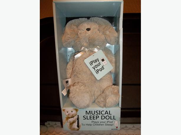 Woon Musical Sleep Toy - Soft Cuddly Bunny - Plays Music on Your Ipod.