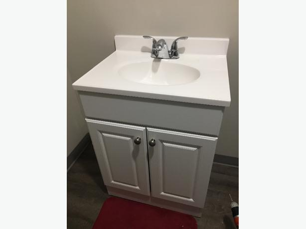 White Bathroom Vanity Combo (Sink and Vanity)