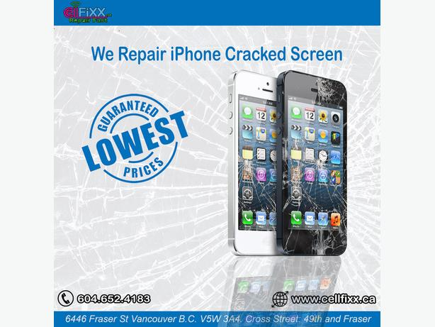 IPHONE CRACKED SCREENS REPAIRED IN JUST 30 MINUTES