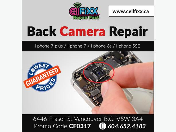 Cell Phone Back Camera Repair in Handsome Discounted price in Town