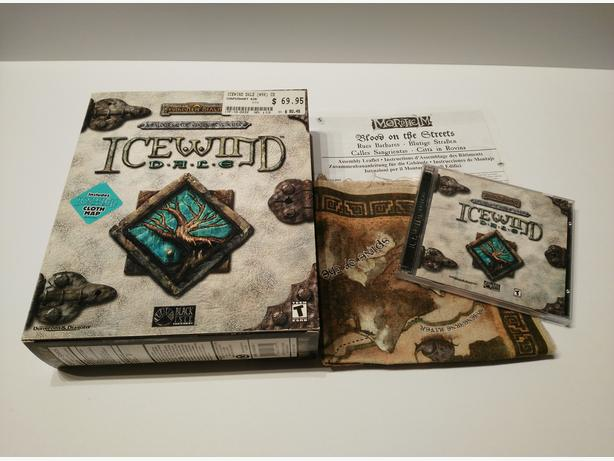 Icewind Dale Classic PC Big Box With Cloth Map