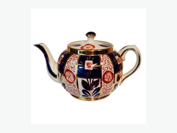 Antique Gaudy Welsh (Imari) Teapot