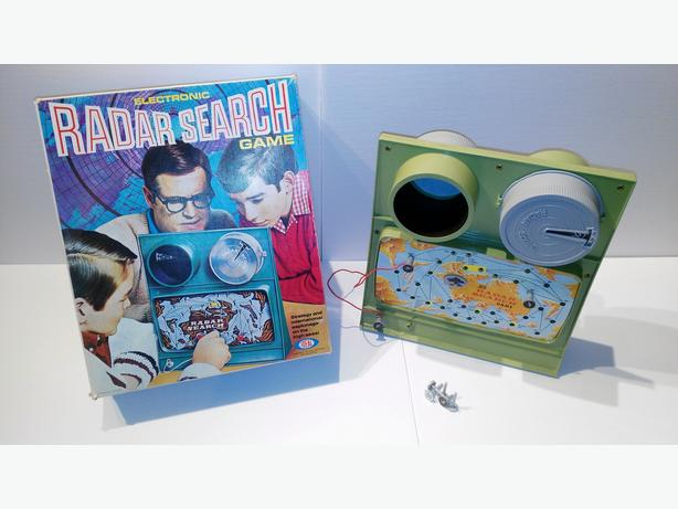 Vintage 1969 Cold War Electronic Radar Search Game From Ideal