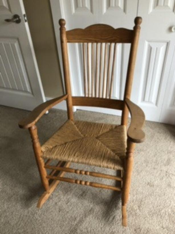 wooden rocking chair ($30 each)