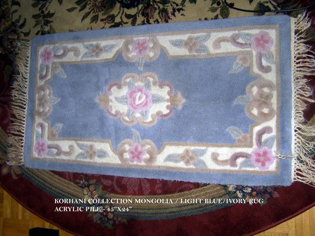 Korhani Collection Mongolia/Light Blue/Ivory Rug
