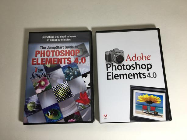 ADOBE PHOTOSHOP ELEMENTS 4 - MAC - with video guide and help book