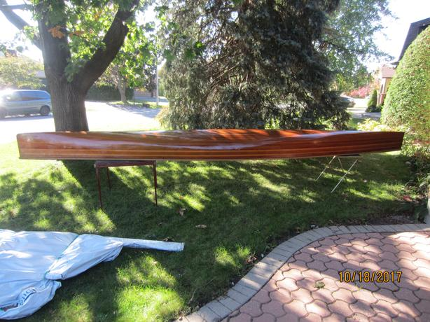 CEDAR STRIP RACING CANOE