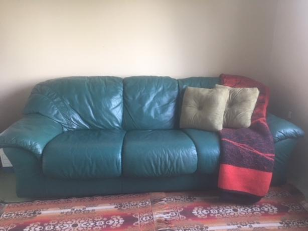 Leather Sofa for sale- Forest Green