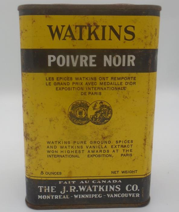 vintage 1950 39 s watkins black pepper 8 oz tin summerside. Black Bedroom Furniture Sets. Home Design Ideas