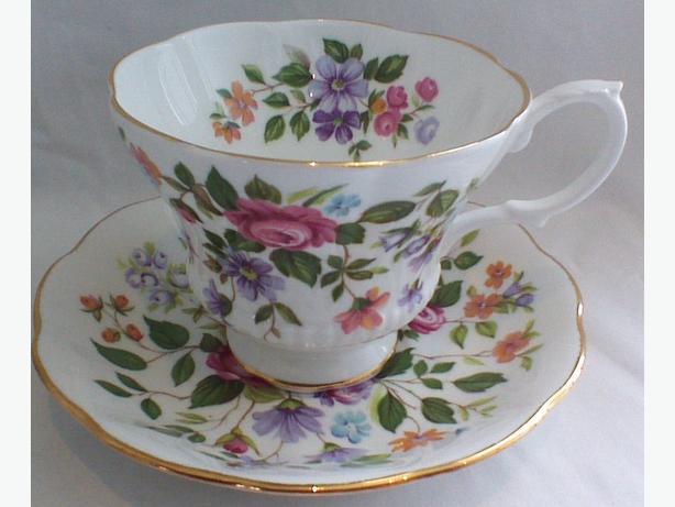 Royal Albert spring floral teacup & saucer
