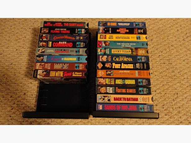 20  John Wayne  VHS collections movies