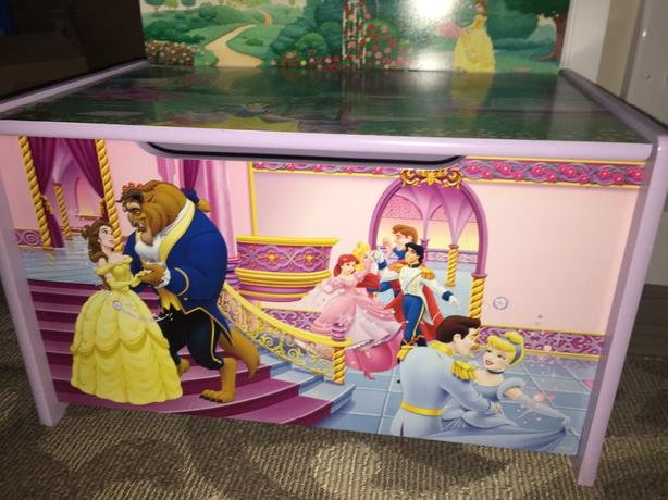 Disney Toy Chest With Princess Dresses