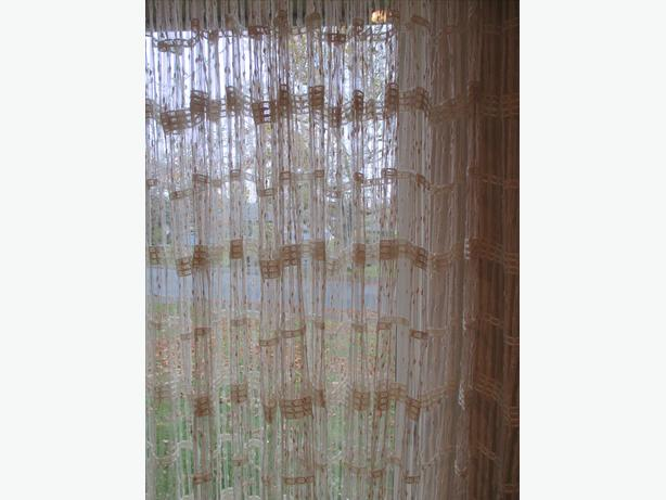 Pinched Pleated Natural Wool Curtains