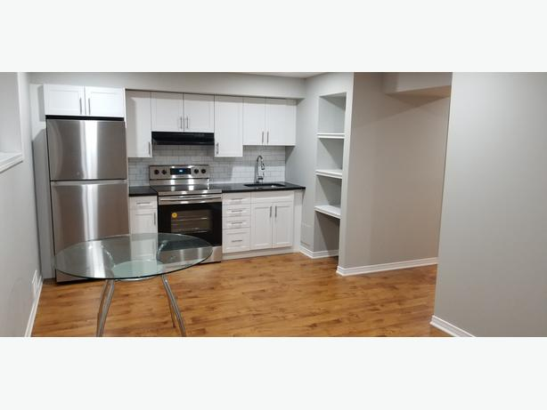 BACHELOR BASEMENT APT- BRAND NEW & JUST FINISHED - AVAILABLE RIGHT AWAY