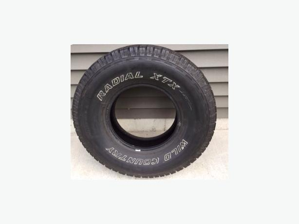 4 Wild Country RADIAL XTX 265/75R15 (all season) tires for sale