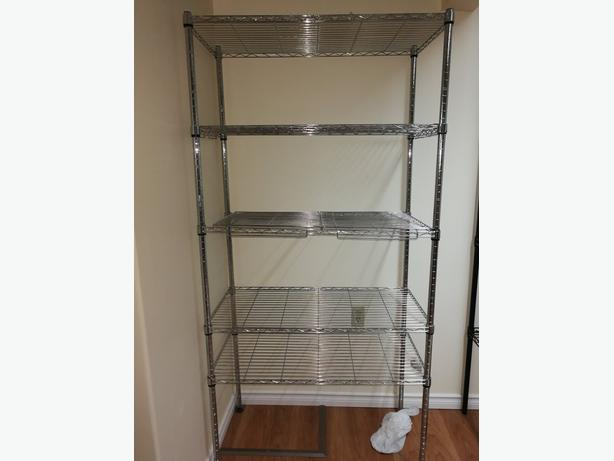 5-TIER HEAVY DUTY SHELVING UNIT IN CHROME