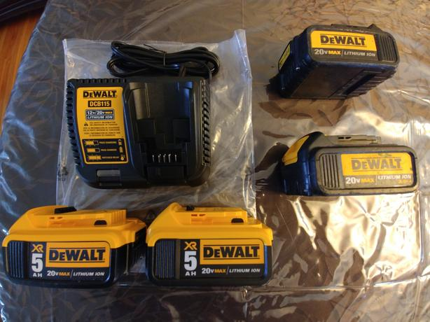 New Dewalt Charger and Batteries