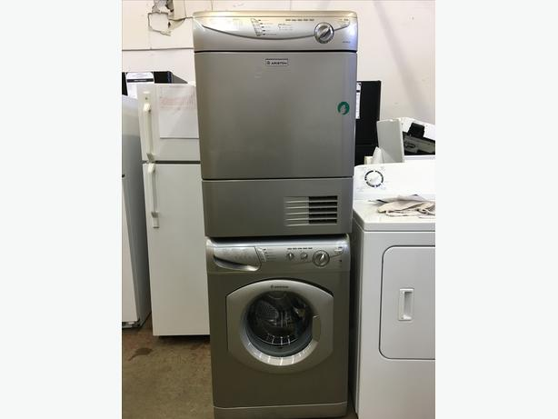 Refurbished Ariston Stacking Washer/Dryer with Condensing Dryer (Vent-less)