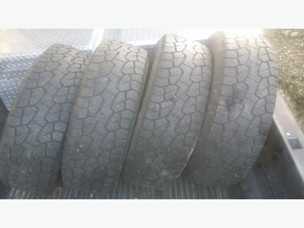 Set of 4 10 ply Hankook Dynapro ATM Tires 275/65R18