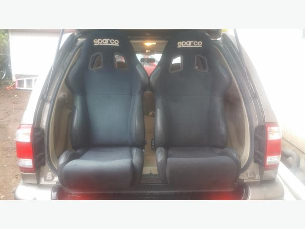 Pair of Sparco reclining Racing Seats