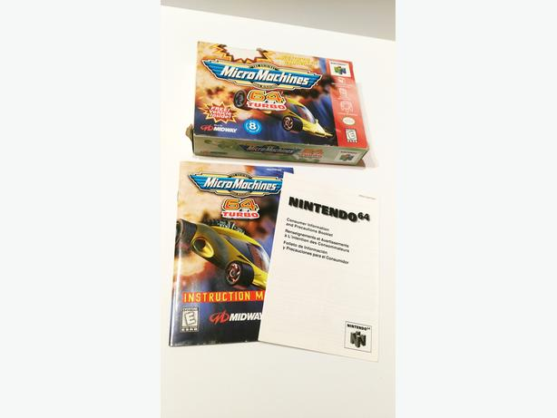 Box & Manual ONLY! Micro Machines 64 Turbo