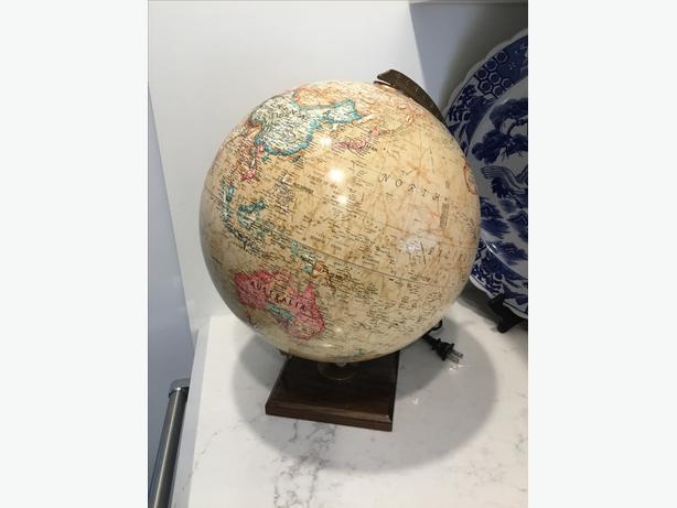Vintage Replogie Globe Lamp