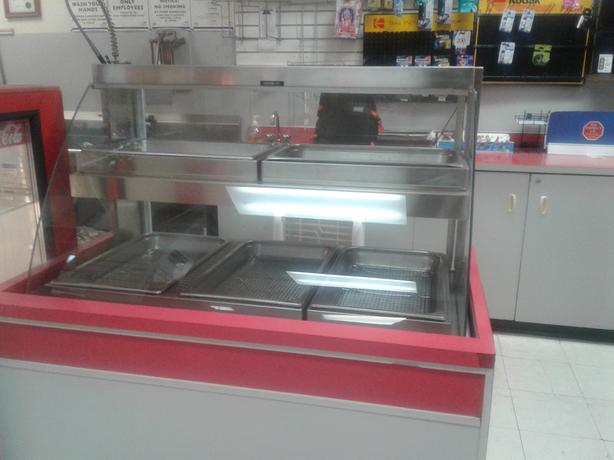 Double Shelf Hot Food Display Merchandiser