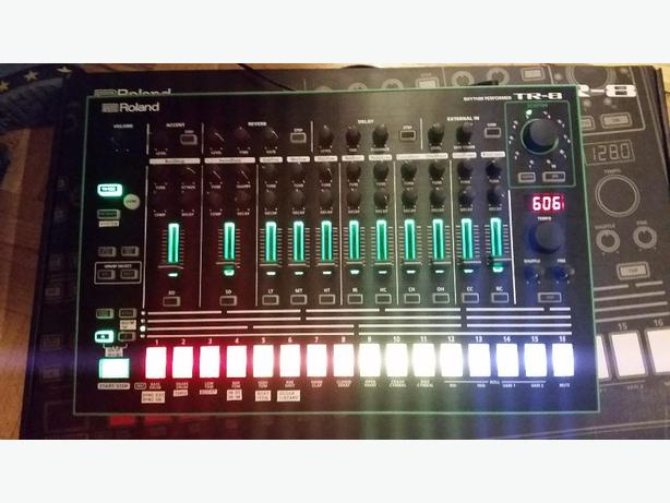 Roland TR-8 drum machine with additional 7x7, 606 sounds