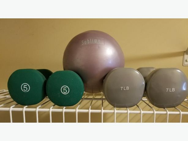 Hand Weights/Weighted ball