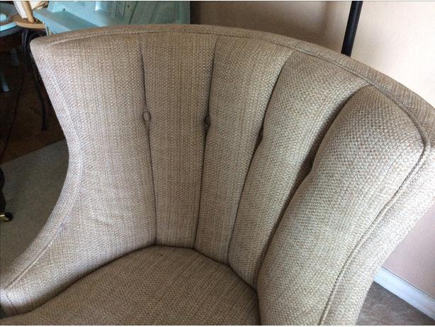Custom CHAISE  with beautiful channel back
