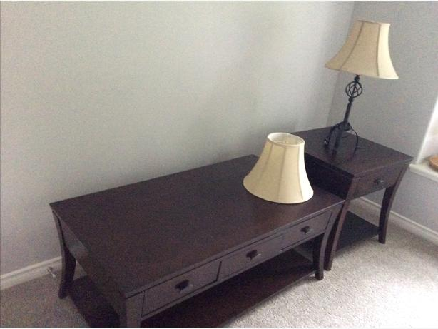 Coffee Table, End Table and Lamp