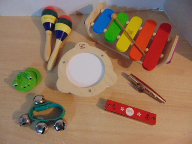 Musical Instruments 8 Piece Wood Toy Melissa Doug Hape Assorted Ages 2-6