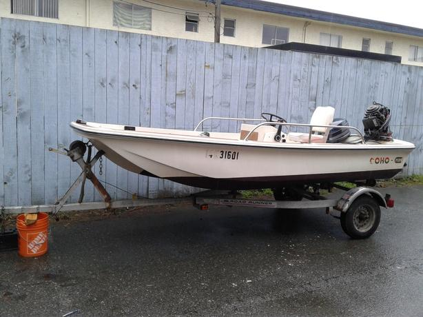 13.5' Coho with motor & trailer
