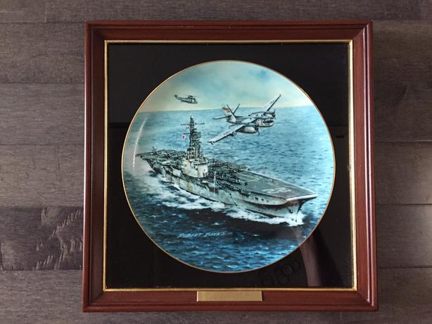 Royal Canadian Navy framed plates