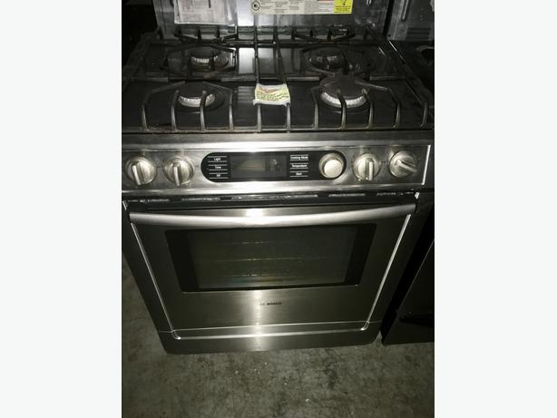 BOSCH SLIDE IN DUAL FUEL GAS COOKTOP W/ELECTRIC OVEN