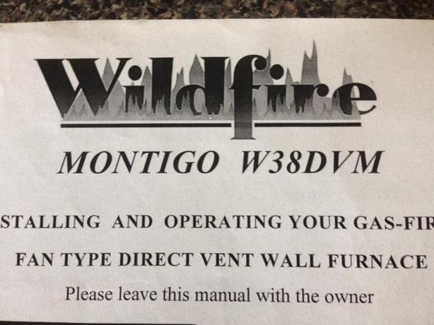 WANTED: Montigo W38DVM fireplace unit