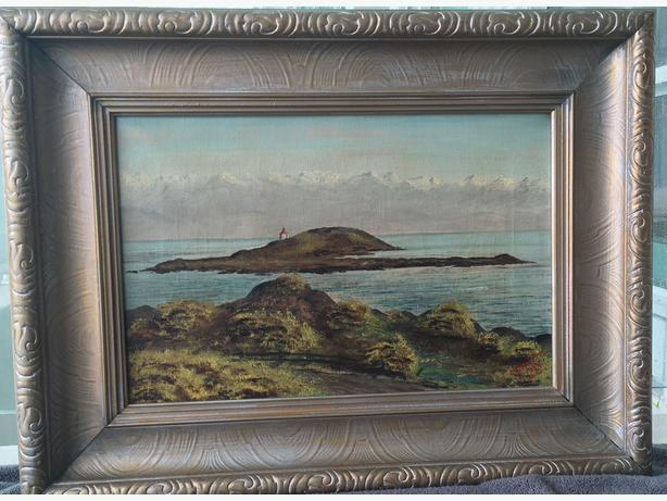 1924 Hallett Signed and Dated, West Coast Ocean Scene - EXCELLENT CONDITION