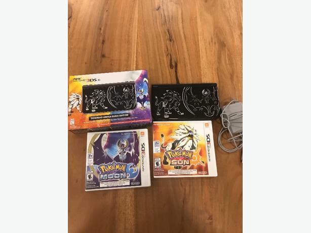 Nintedo 3DS XL Solgaleo Lunala Black Edition